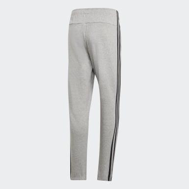 Men Athletics Grey Essentials 3-Stripes Joggers