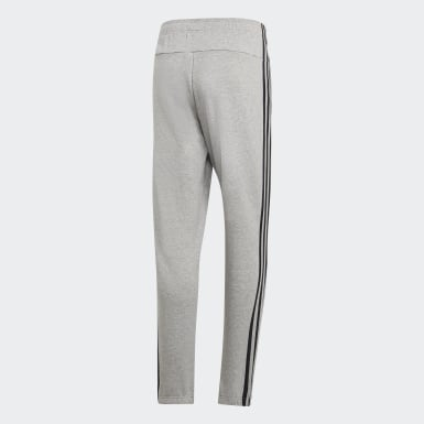 Men Athletics Grey Essentials 3-Stripes Pants