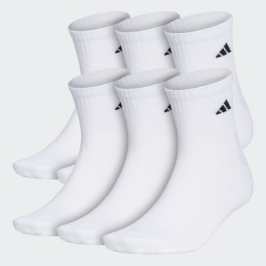 Men's Training White Athletic Cushioned Quarter Socks 6 Pairs XL