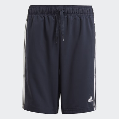 Boys Sport Inspired Blue adidas Essentials 3-Stripes Chelsea Shorts