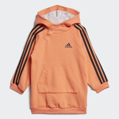 Kinder Training Hooded Kleid-Set Orange