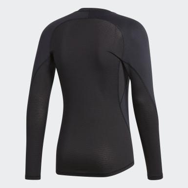Men Football Black Alphaskin Sport Long-Sleeve Top