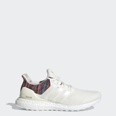 Men Running White Ultraboost DNA Shoes