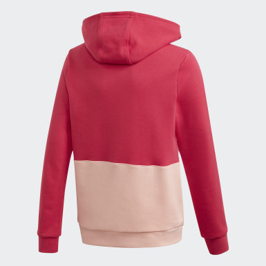 Youth 8-16 Years Originals Pink Large Trefoil Hoodie