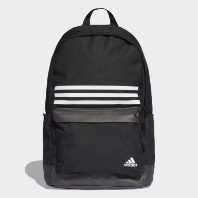 Handball Black Classic 3-Stripes Pocket Backpack