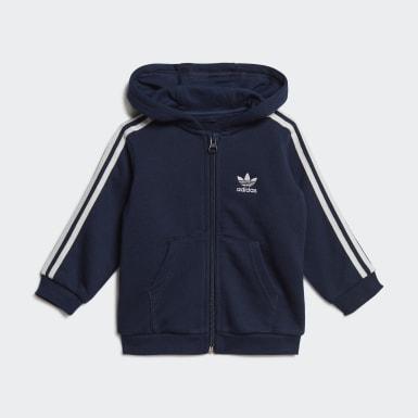 Conjunto chaqueta con capucha y pantalón Azul Niño Originals
