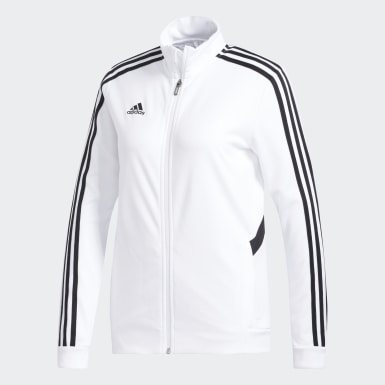 Women Football White Tiro Track Jacket