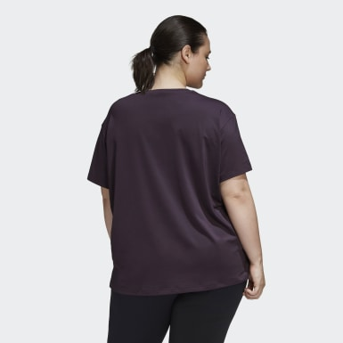 T-shirt Glam-On (Plus Size) Roxo Mulher Running
