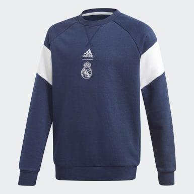 Jungen Fußball Real Madrid Sweatshirt Blau