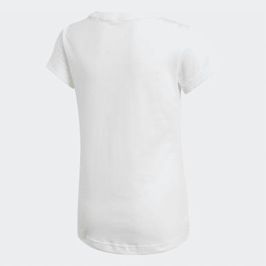 Camiseta Must Haves Badge of Sport Blanco Niña Training