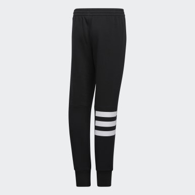 Children Training Black Badge of Sport 3-Stripes Joggers