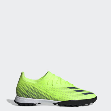 Men's Soccer Green X Ghosted.3 Turf Soccer Shoes