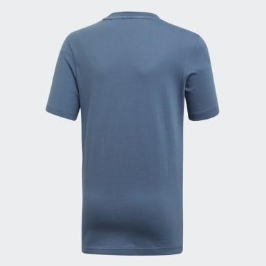 T-shirt Must Haves  Badge of Sport Blu Ragazzo Yoga