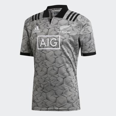 Männer Rugby All Blacks Trainingstrikot Grau