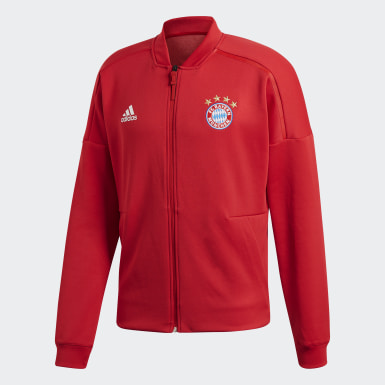 Men Football Red FC Bayern adidas Z.N.E. Jacket