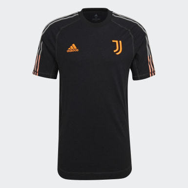 Men Football Black Juventus Travel Tee