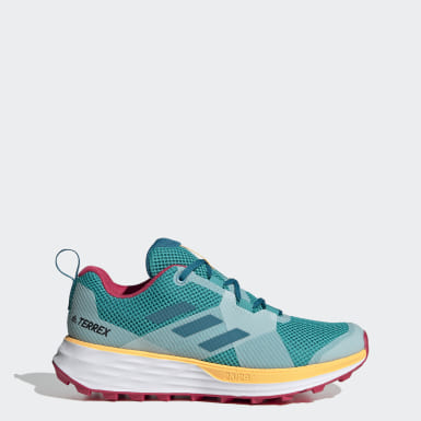 Women's Trail Running Turquoise Terrex Two Trail Running Shoes