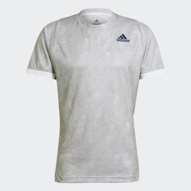 Men's Tennis Grey Tennis Freelift Printed Primeblue Tee