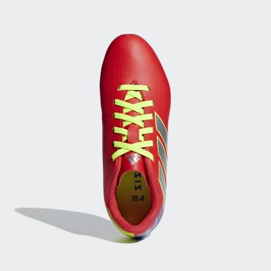 Calzado de Fútbol Nemeziz Messi 18.4 Multiterreno Rojo Niño Fútbol