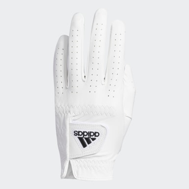 Men Golf White Leather Gloves
