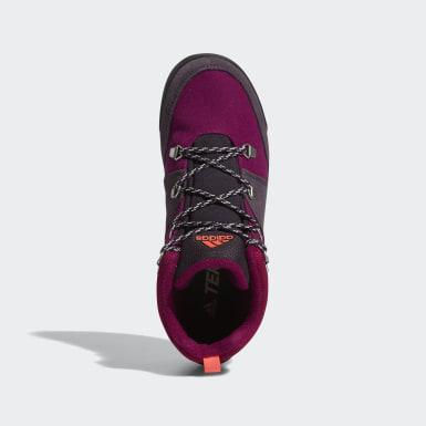 Children Mountain Sports Burgundy Terrex Climawarm Snowpitch Winter Shoes