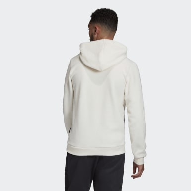 Männer Athletics Sherpa Winter Hoodie Weiß