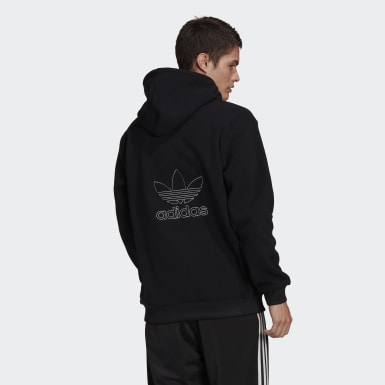 Men's Originals Black Adicolor Polar Fleece Hoodie