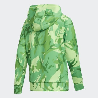 Youth Training Green Core Camo Hoodie