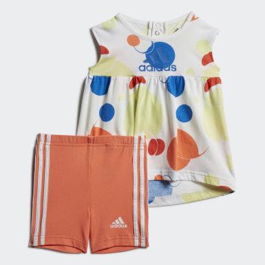 оранжевый Комплект: платье и шорты Summer Style