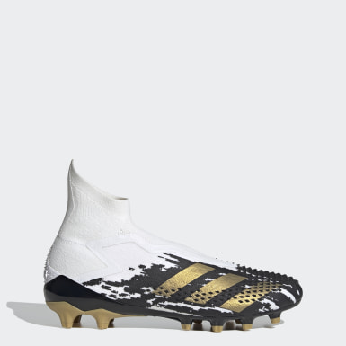 Football White Predator Mutator 20+ Artificial Grass Boots