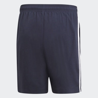 Men Athletics Blue Essentials 3-Stripes Chelsea Shorts 7 Inch