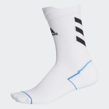 Handball Hvid Alphaskin Primeblue sokker