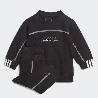 Kids Originals Black R.Y.V. Crew Set