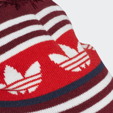Originals Bordeaux Adicolor Jacquard Pompom Beanie