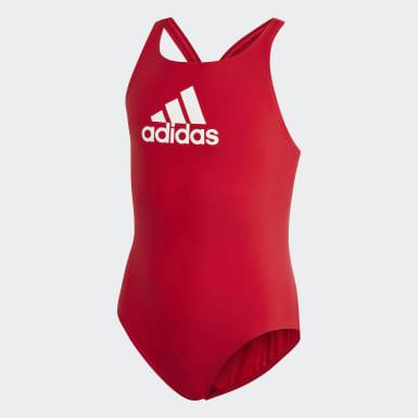 Çocuklar Yüzme Kırmızı Badge of Sport Mayo