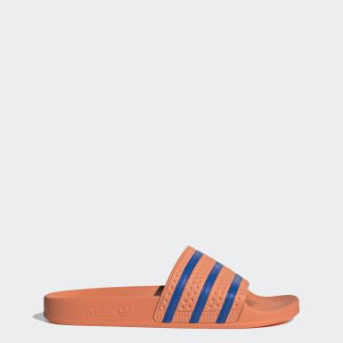 Ženy Originals oranžová Pantofle Adilette