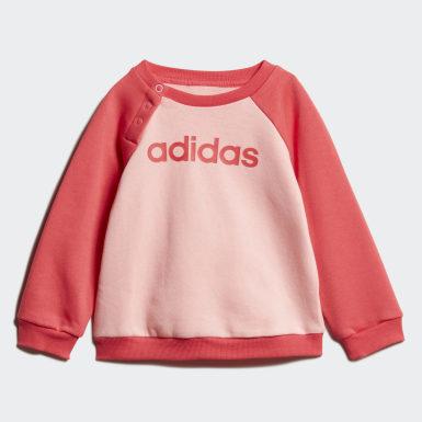 Kinderen Athletics Roze Linear Fleece Joggingpak