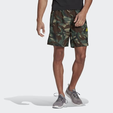 Pantalón corto adidas Designed To Move Camouflage AEROREADY Verde Hombre Cross Training