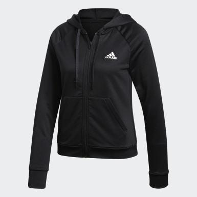 Women Athletics Black Big Badge of Sport Track Suit