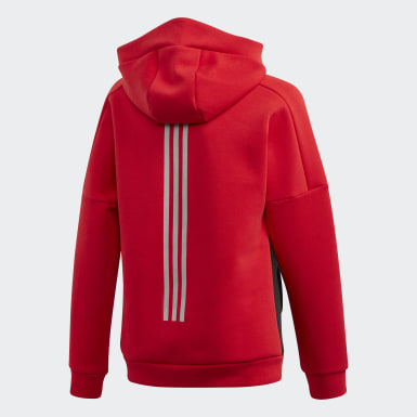 Boys Lifestyle Red Hooded Sweatshirt