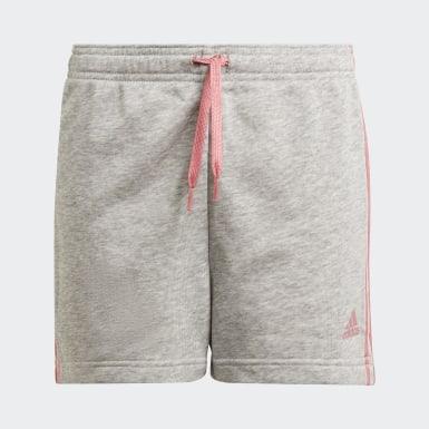 Meisjes Athletics Grijs adidas Essentials 3-Stripes Short