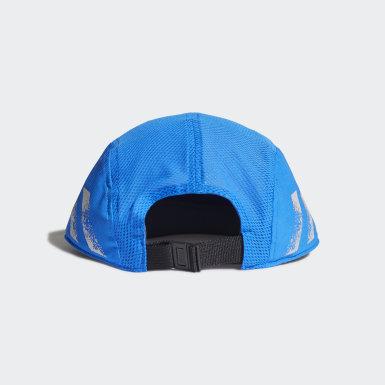 Gorra para correr Cinco Paneles Reflectivo AEROREADY Azul Running