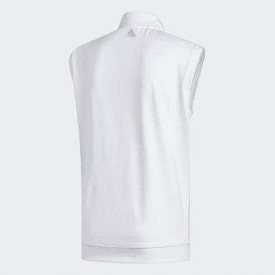 Men Golf White Classic Club 1/4 Zip Vest