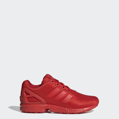Youth 8-16 Years Originals Red ZX Flux Shoes