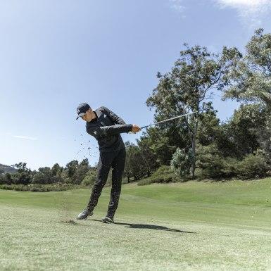 Muži Golf šedá Kalhoty Ultimate365 3-Stripes Tapered