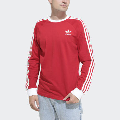 Men's Originals Red 3-Stripes Tee