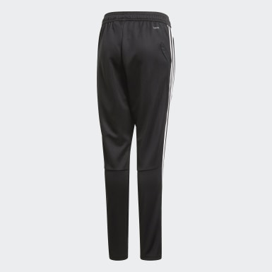 Kids Football Black Juventus Training Tracksuit Bottoms