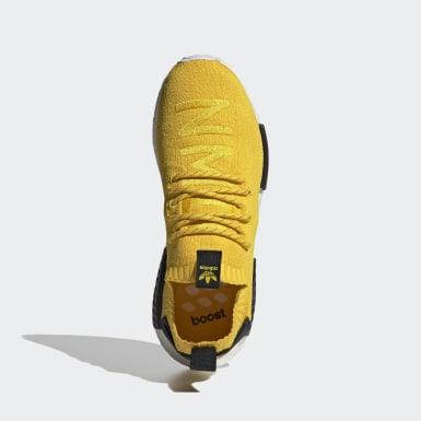 Chaussure NMD_R1 Primeknit jaune Hommes Originals