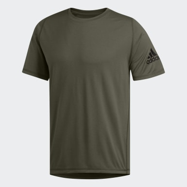 Playera FreeLift Sport Ultimate Heather Verde Hombre Training
