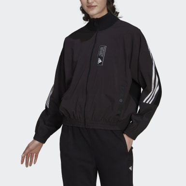 Women Athletics Black adidas Sportswear Aeroknit Track Top